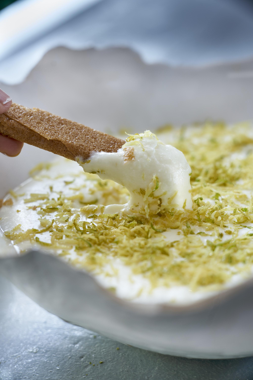 Mousse limón lima