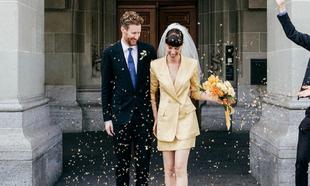 La boda de la estilista Amy Merrick es un buen ejemplo de celebración...