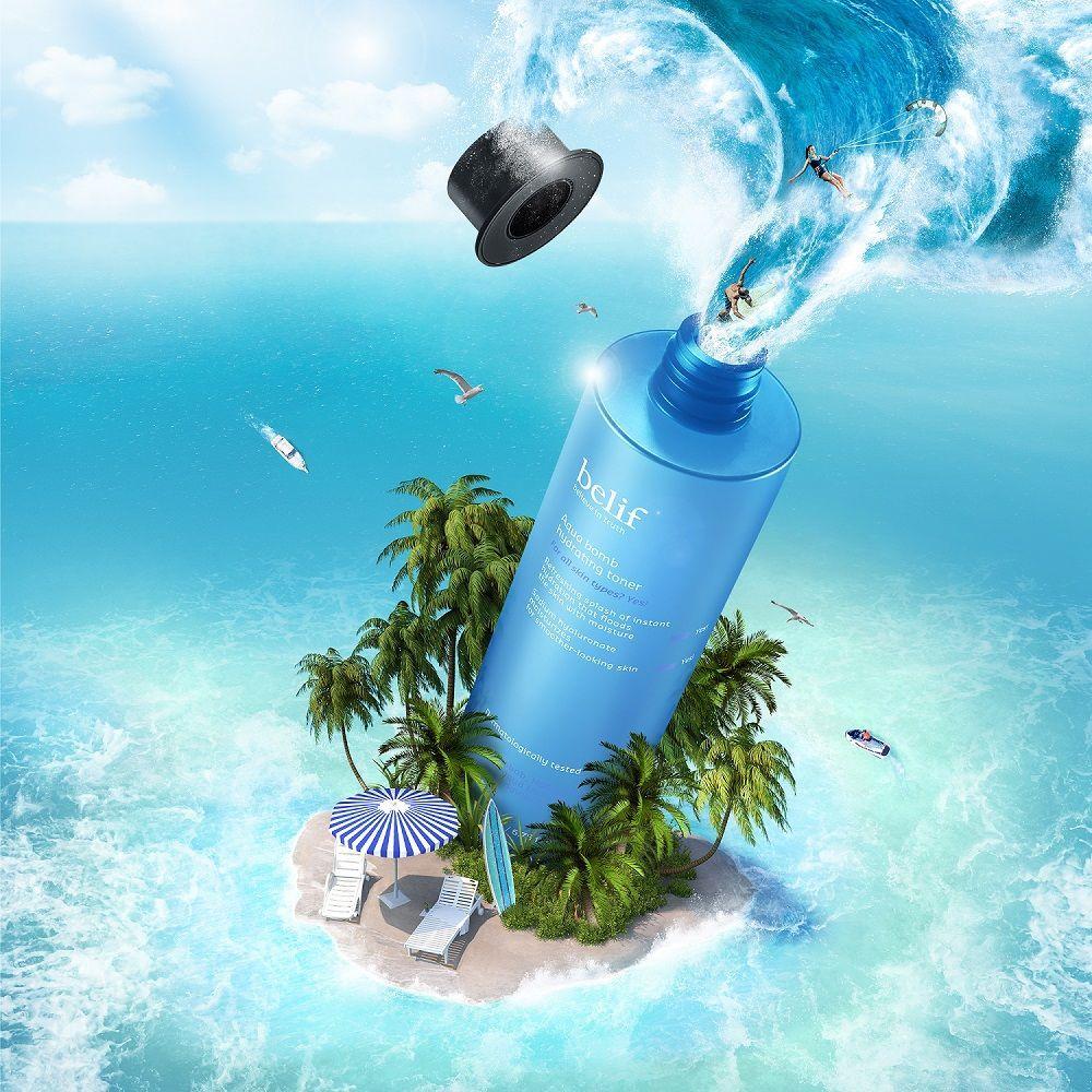 El tónico hidratante Aqua bomb hidrata y refresca instantáneamente...