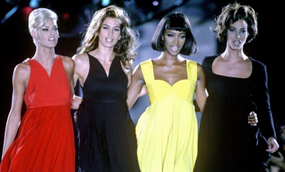 Linda Evangelista, Cindy Crawford, Naomi Campbell y Christy...