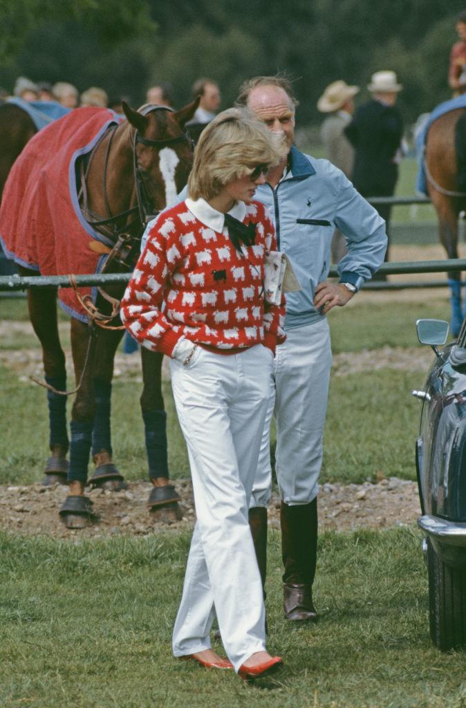 La princesa Diana en el Club de Polo, en Windsor, en junio de 1983,...
