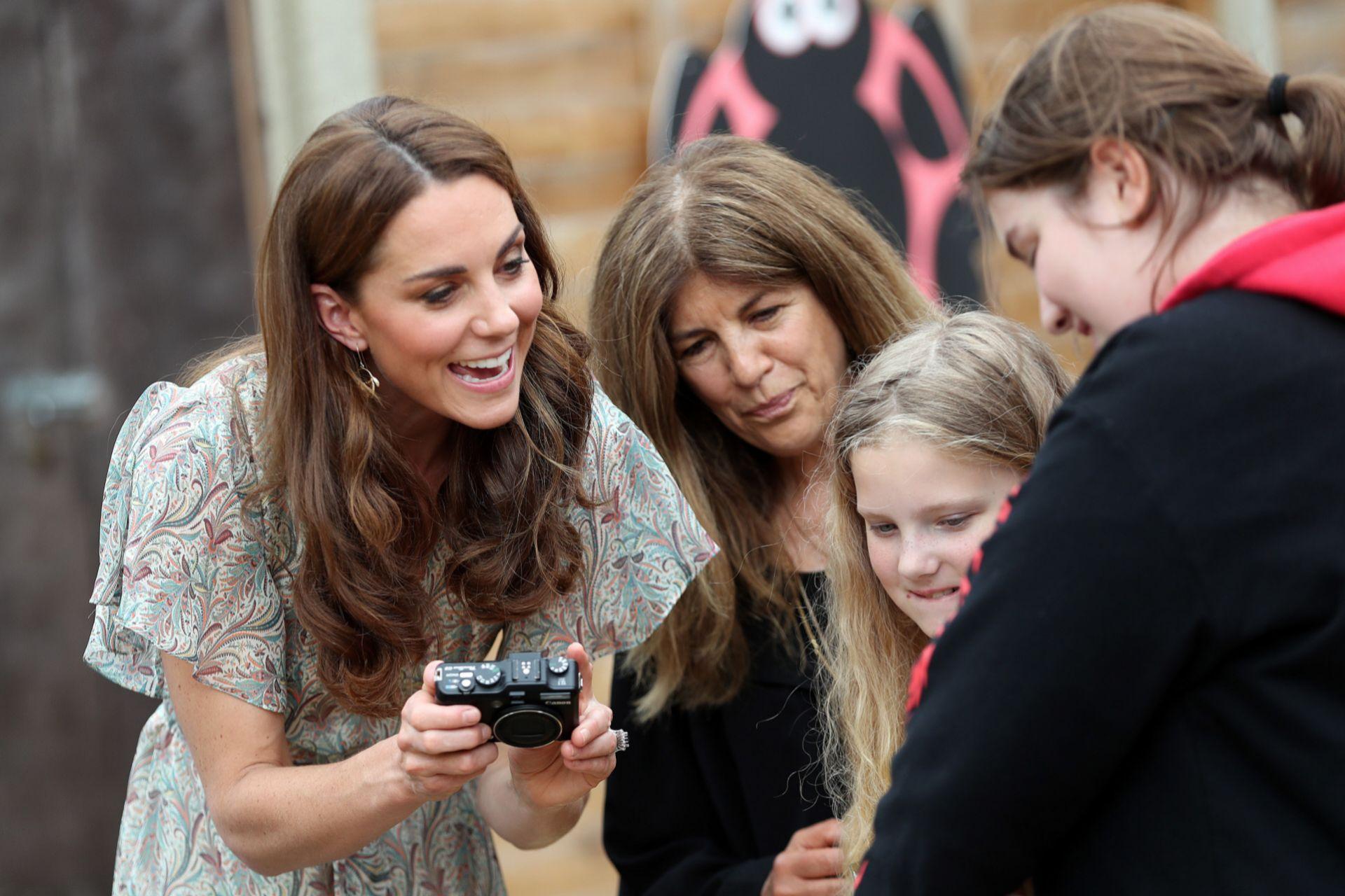 Kate durante un taller de fotografía organizado por la Royal Photographic Society.