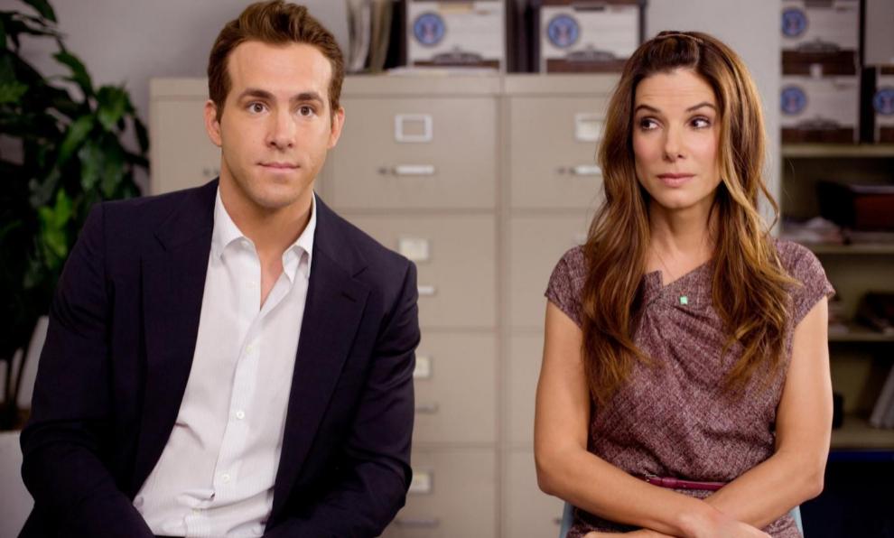 """Ryan Reynolds y Sandra Bullock compartieron rodaje en """"La..."""