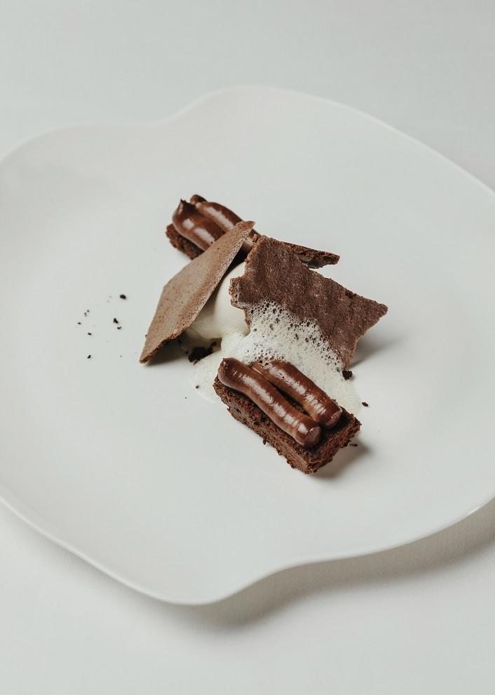 Chocolate en adobo, con helado de especias