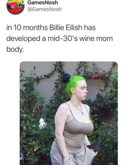 """Uno de los tweets """"body shaming"""" a Billie Eilish."""