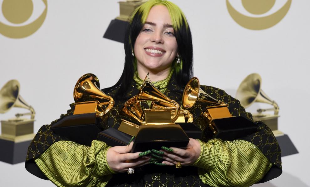 Billie Eilish en la última gala de los Premios Grammy.