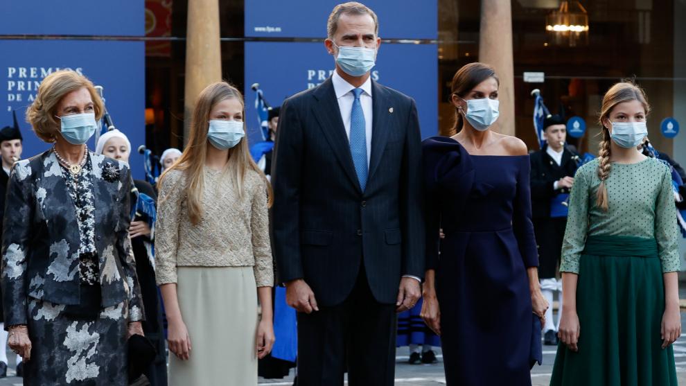 La Familia real en los Premios Princesa de Asturias 2020.