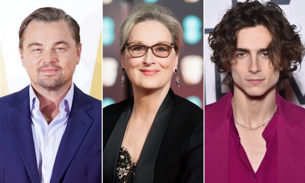 Leonardo DiCaprio, Meryl Streep y Timothée Chalamet son tres de los...