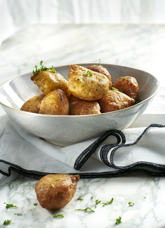 Buñuelos de batata y calabaza