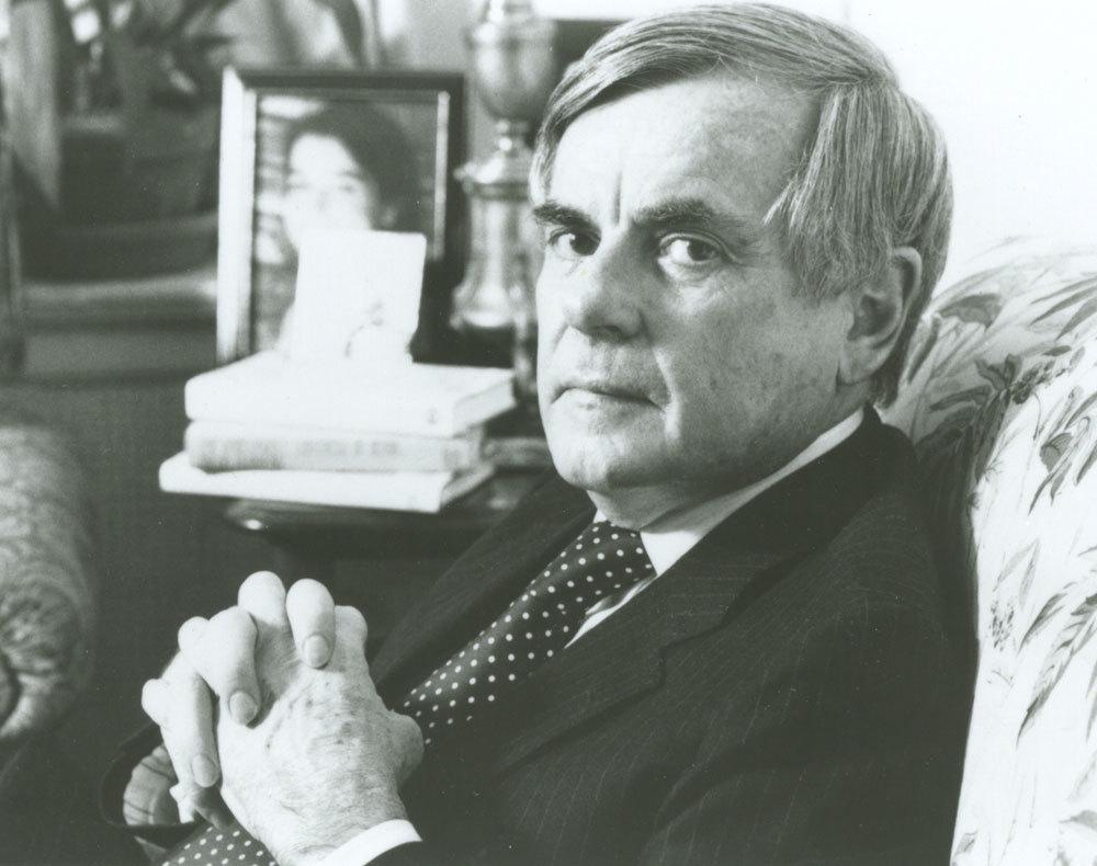 El escritor Dominick Dunne (1925-2009)