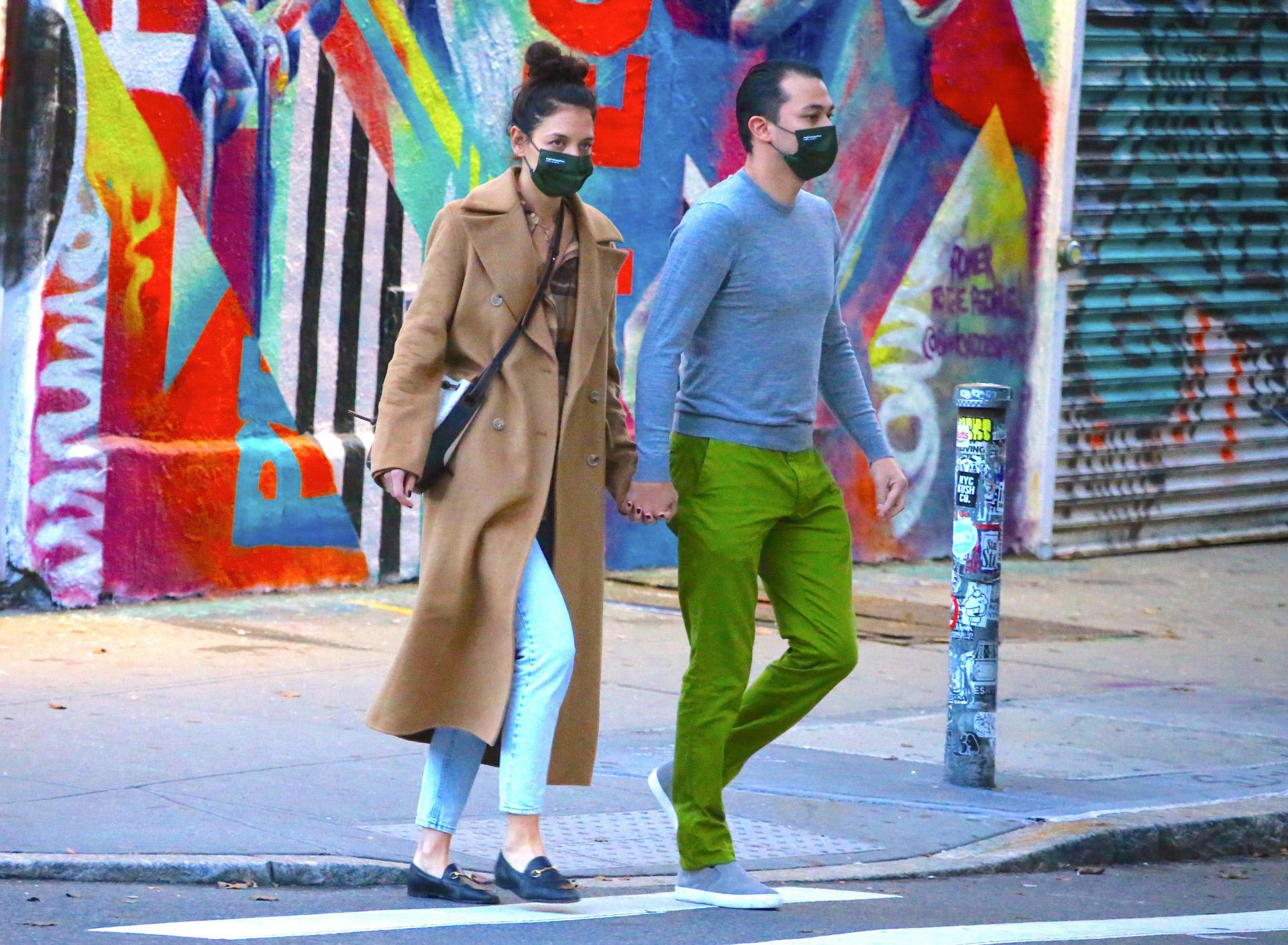 Katie Holmes con Emilio Vitolo.