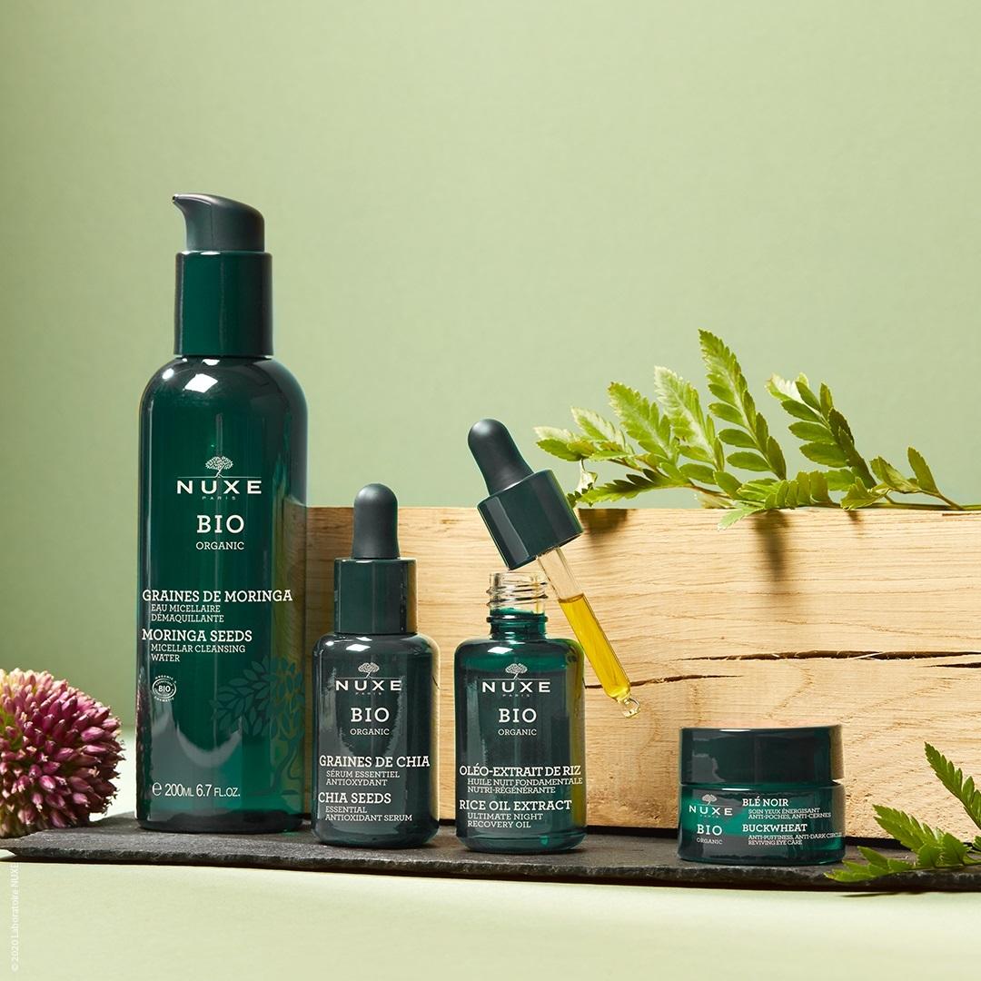 Nuxe Bio nace con 8 productos para el cuidado facial y corporal.