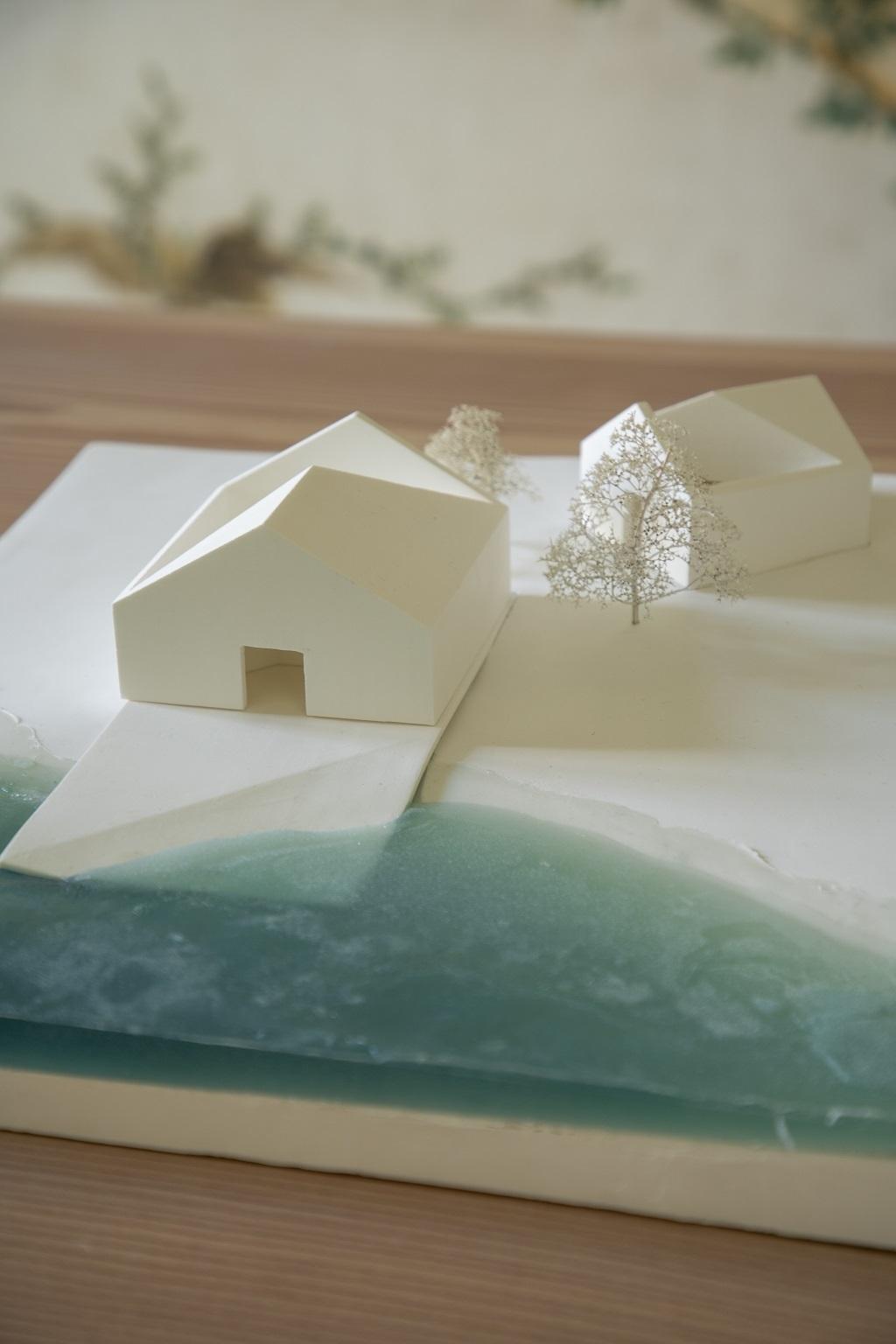 Una de las maquetas que se pueden ver en su estudio.