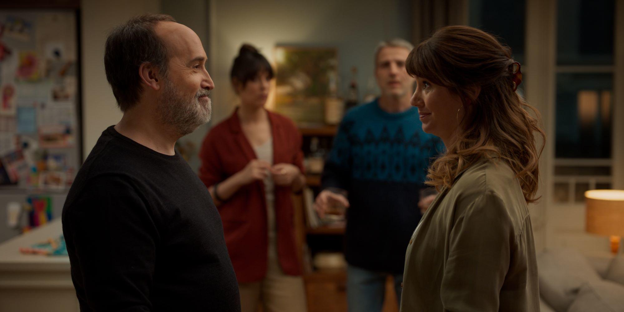 Javier  Cámara y Griselda Siciliani.
