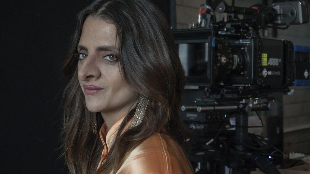 Macarena Gómez en el rodaje del Smell Film de la Academia del Perfume.