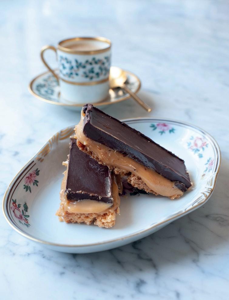Galletas de toffee y chocolate