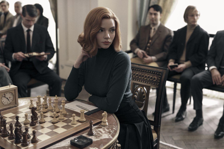 "Anya Taylor-Joy interpreta a una maestra del ajedrez en ""Gambito de reina"", ya en Netflix."