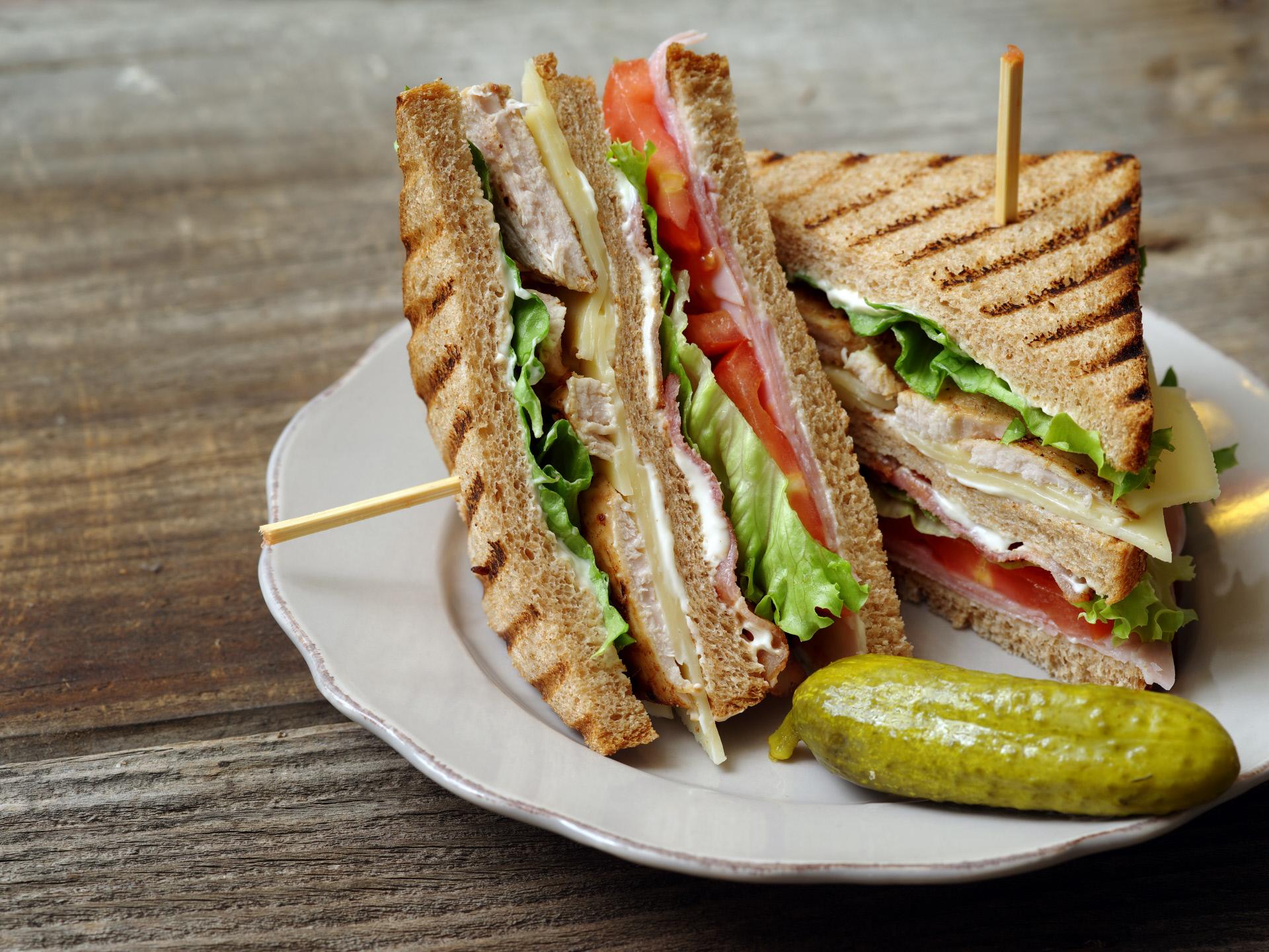 Versión de sándwich club.