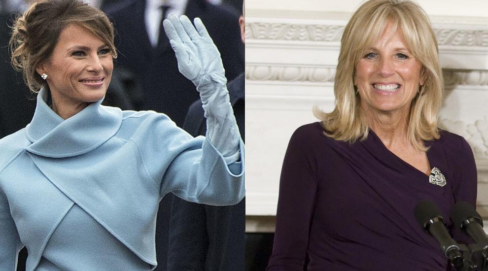 Melania Trump y Jill Biden.
