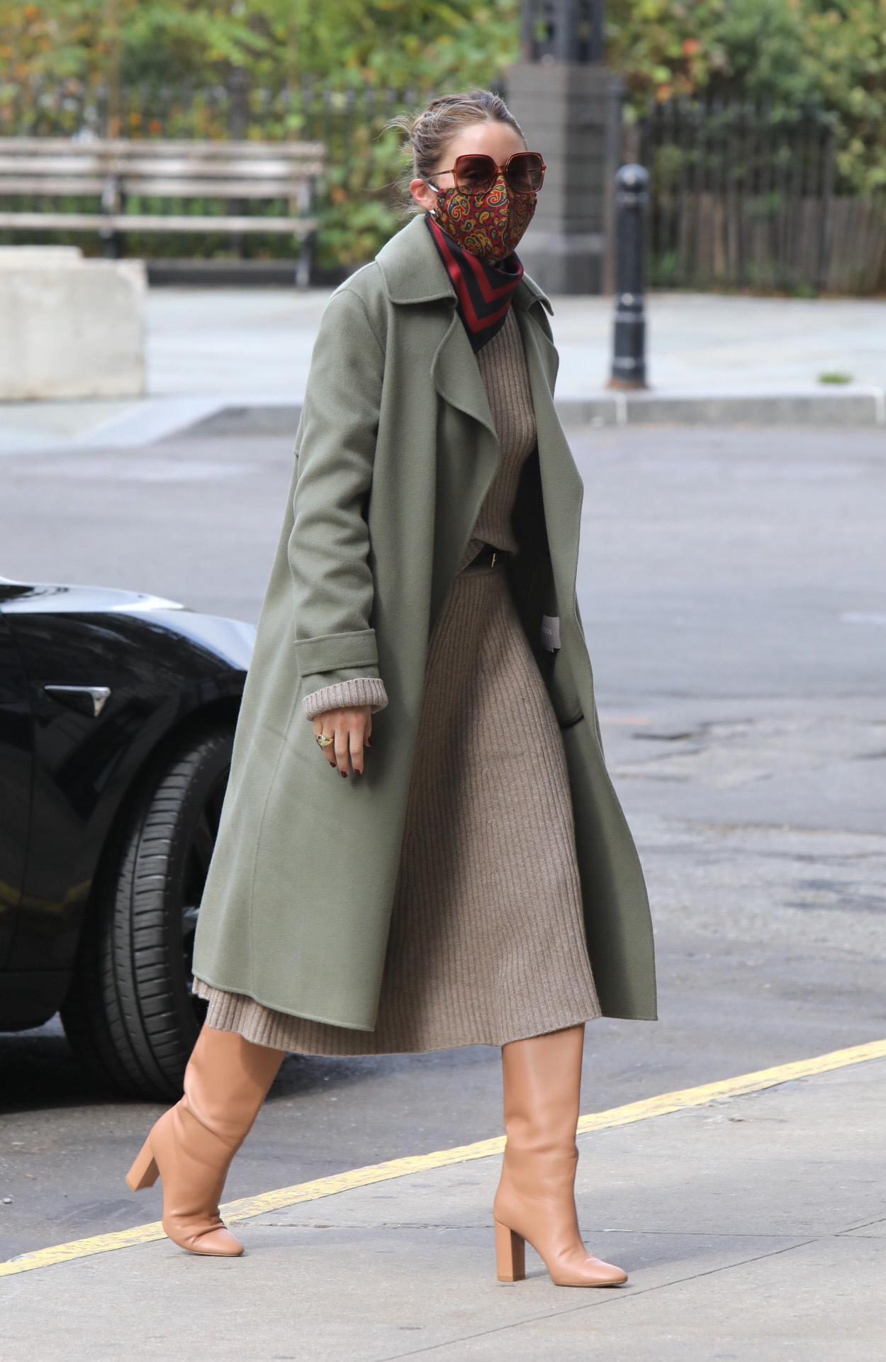 Olivia Palermo en las calles de Nueva York.