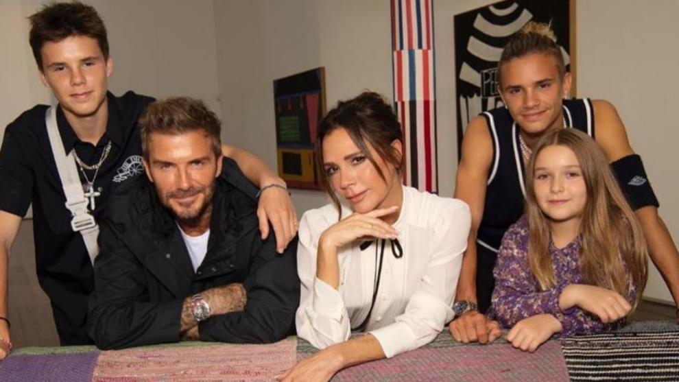 David, Victoria, Harper, Romeo y Cruz Beckham.