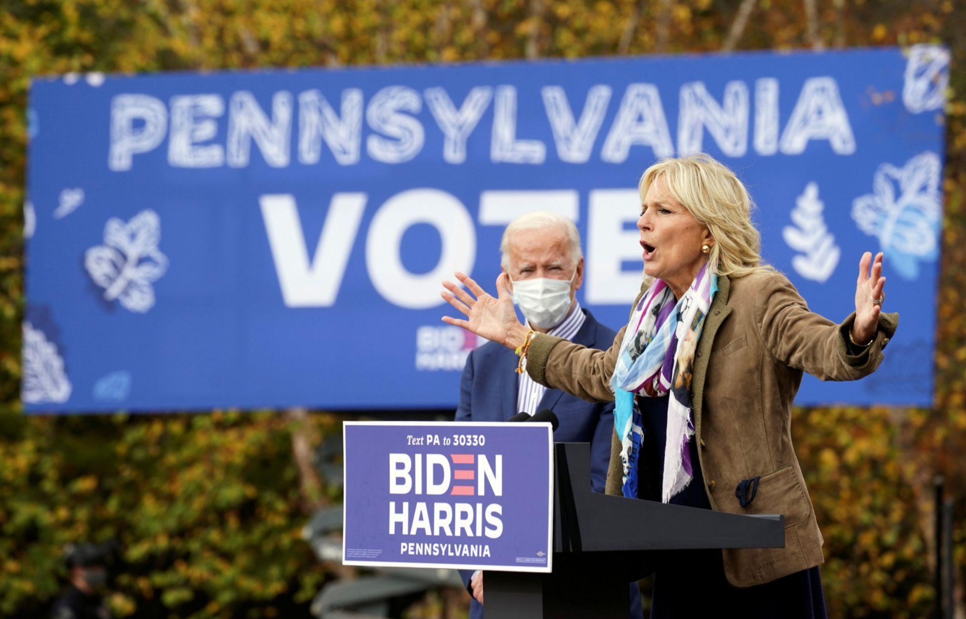 Jill Biden en un acto de la reciente campaña electoral.