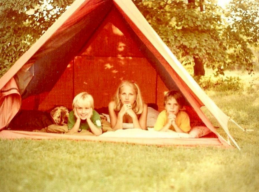 Jill con sus hijos Beau y Hunter.