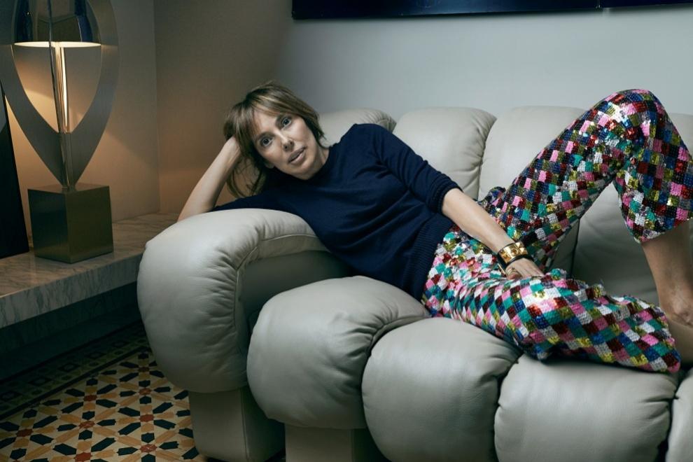 Teresa Helbig en el salón de su casa.