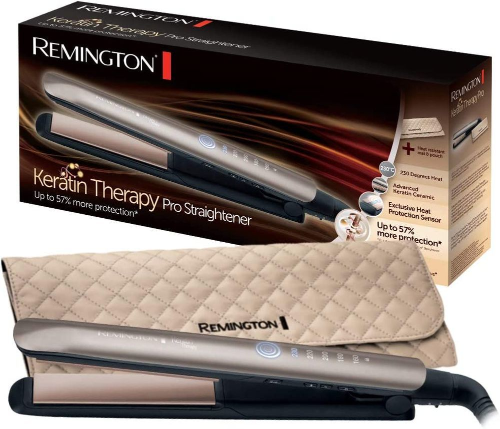 Plancha de pelo S8590 Keratin Therapy Pro de Remington