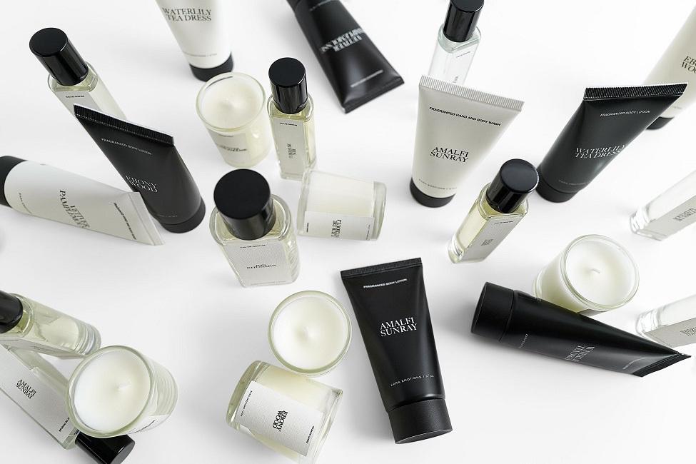 Productos de belleza de Zara.