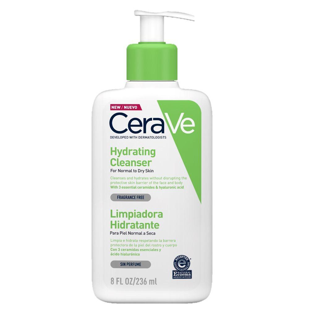 Limpiador facial hidratante de Cerave.