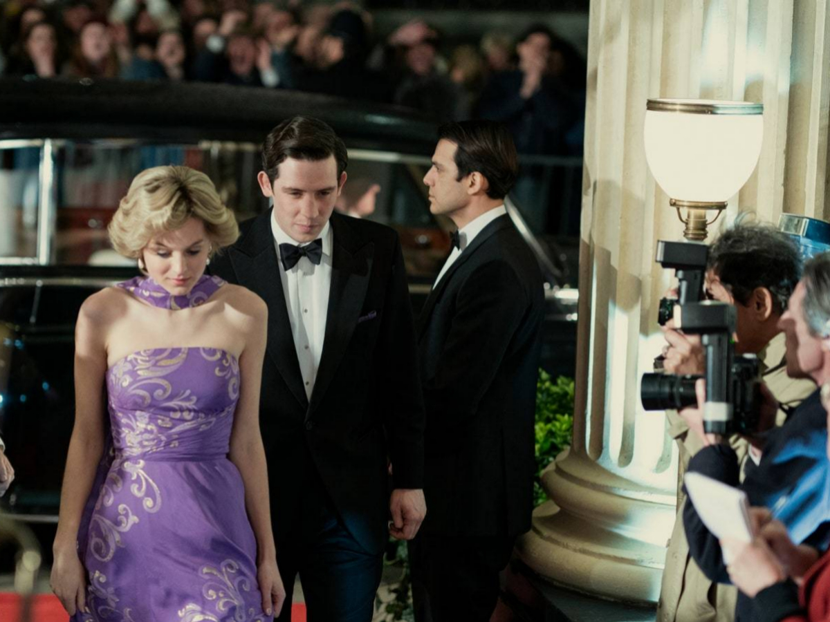 Carlos y Diana llegando a The Royal Opera house