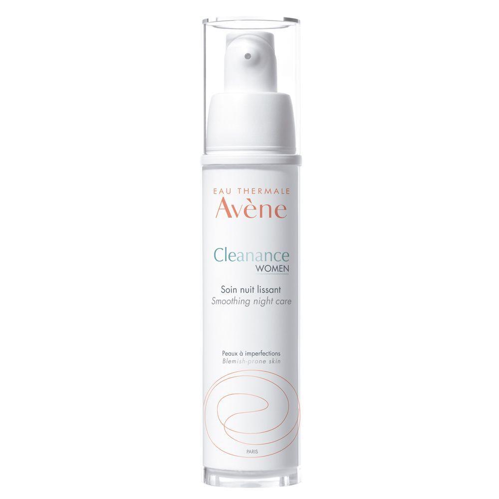 Cuidado de la noche alisador Cleanance de Avène (24,95 euros) con retinaldehido reduce las imperfecciones, manchas y las marcas residuales.