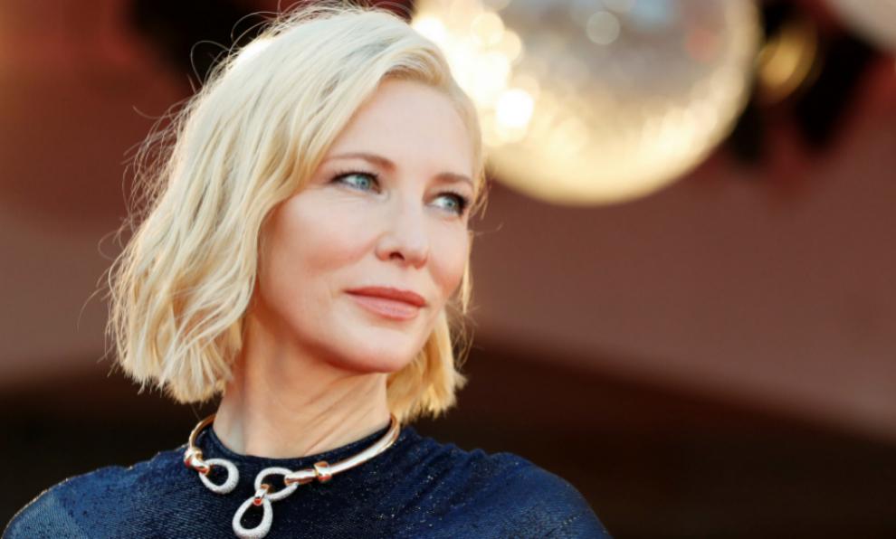Cate Blanchett en el Festival de cine de Venecia.