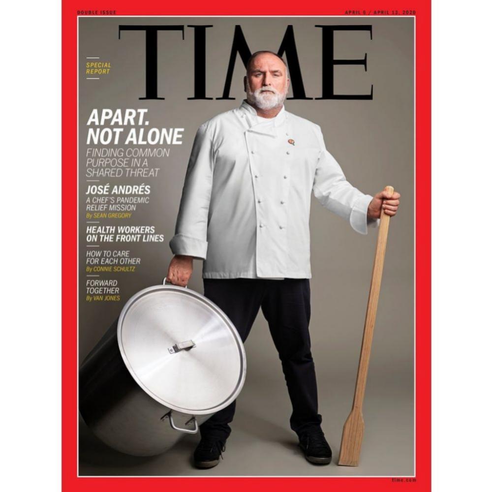 El chef en la portada de la revista Time del pasado abril 2019.