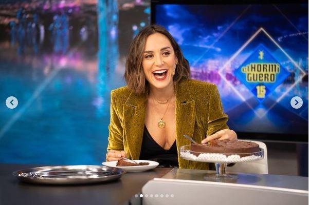 Tamara Falcó con su tarta de chocolate el 19 de noviembre en El Hormiguero