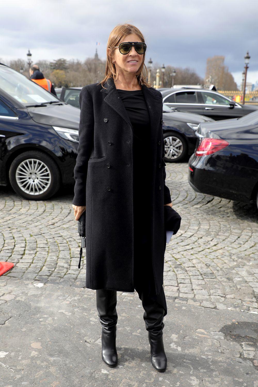 El color negro es el color fetiche de Carine Roitfeld.
