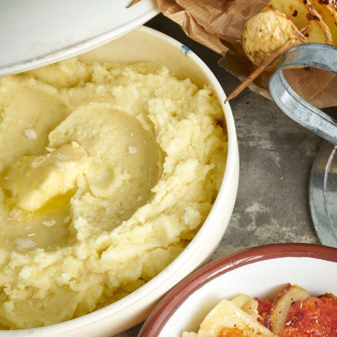 Puré de patatas exprés.