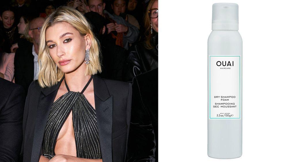 Hailey Baldwin y su champú favorito para dar textura y volumen a su pelo fino, Dry Shampoo Foam de Ouai (30 euros). A la venta en Nadia Perfumería.