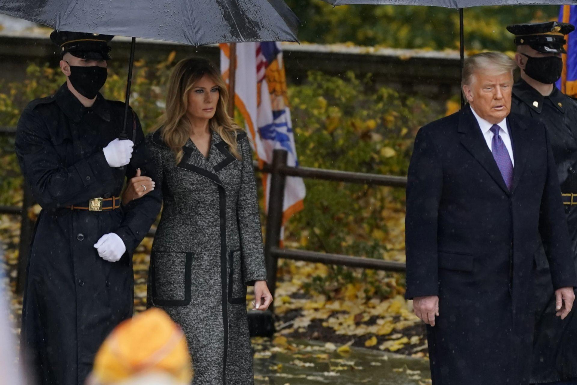 Melania Trump en el Día de los Veteranos.