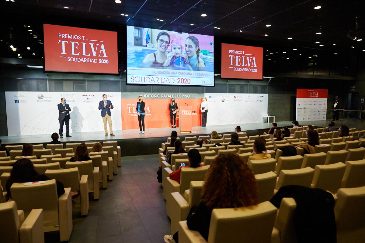 Vista del Auditorio Rafael del Pino, donde se celebraron los premios. Javier Pérez Minguez, de la Fundación Ana Carolina Díez Mahou, recogió el tercer premio nacional.