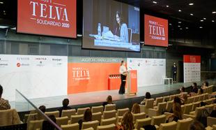 Vista del auditorio de la Fundación Rafael del Pino donde se...