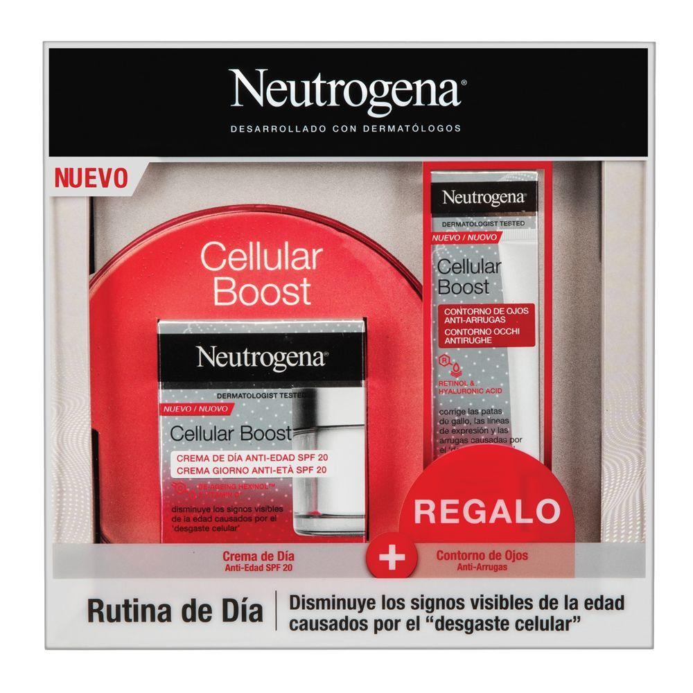 Cellular Boost Antiedad Pack con crema de día y contorno de ojos de Neutrogena.