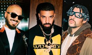 Los cantantes J Balvin, Drake y Bad Bunny son los más escuchados de...