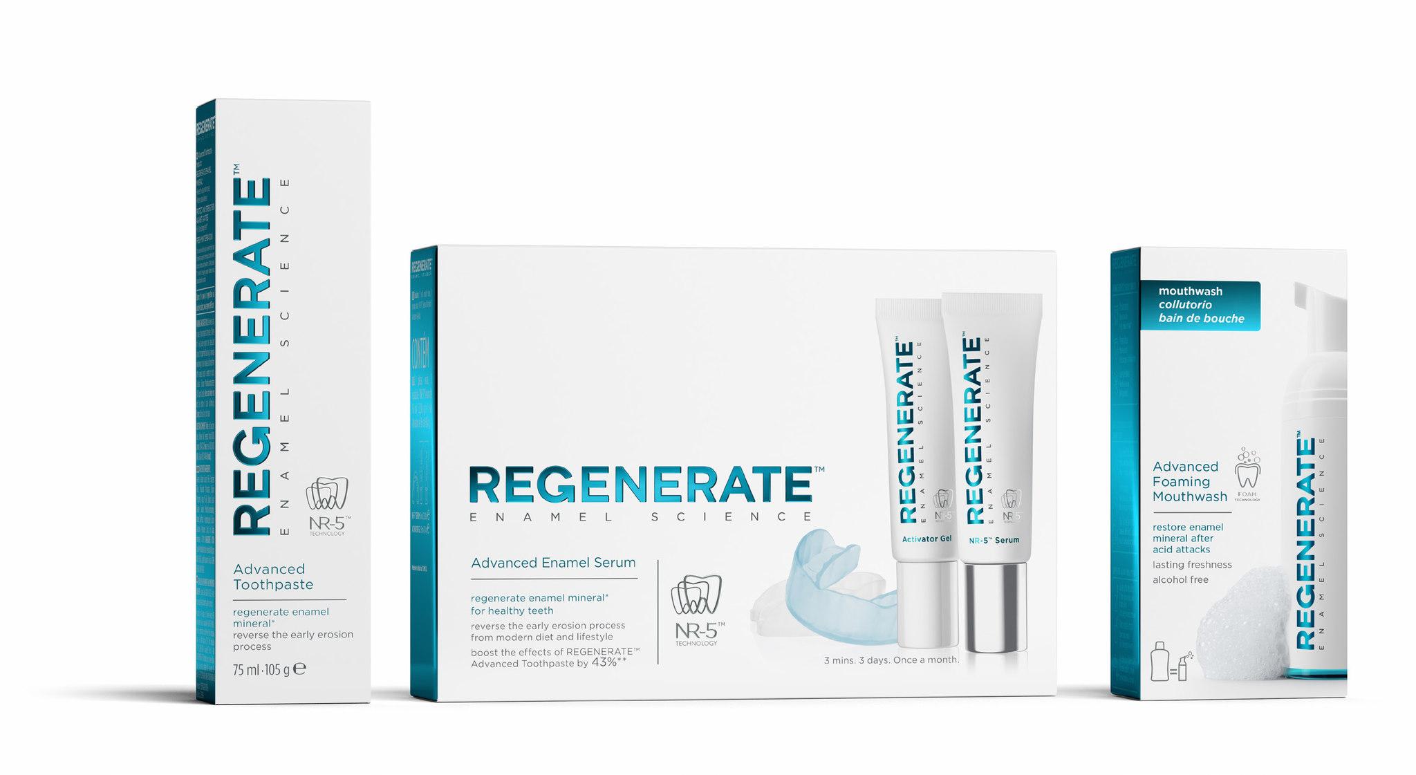El tratamiento Regenerate Enamel Science consta de tres pasos:...