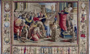 San Pablo y san Bernabé en Lystra, en la Galería del Palacio Real de...