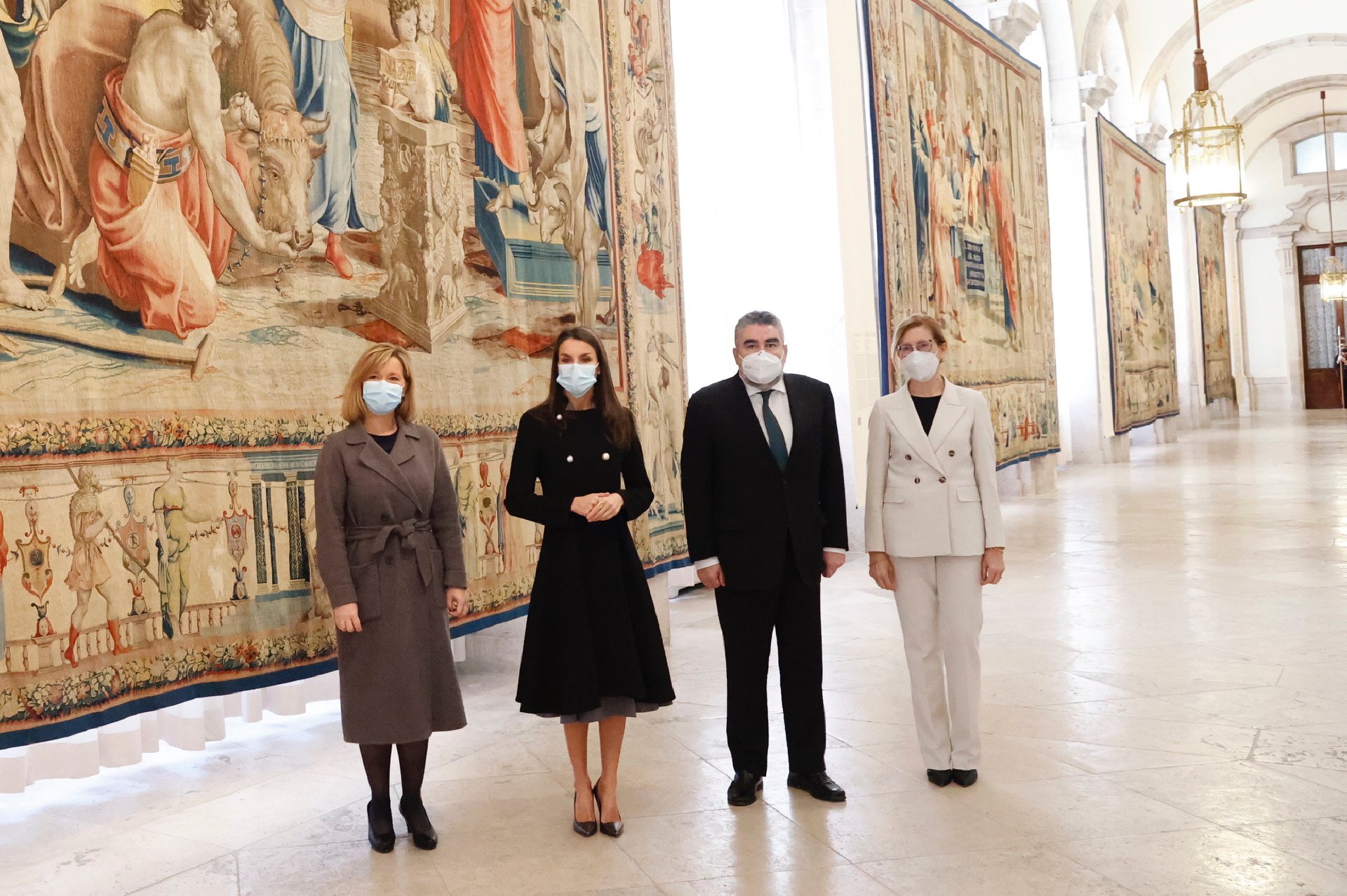 La reina Letizia en la inauguración de la exposición Rafael en Palacio. Tapices para Felipe II.