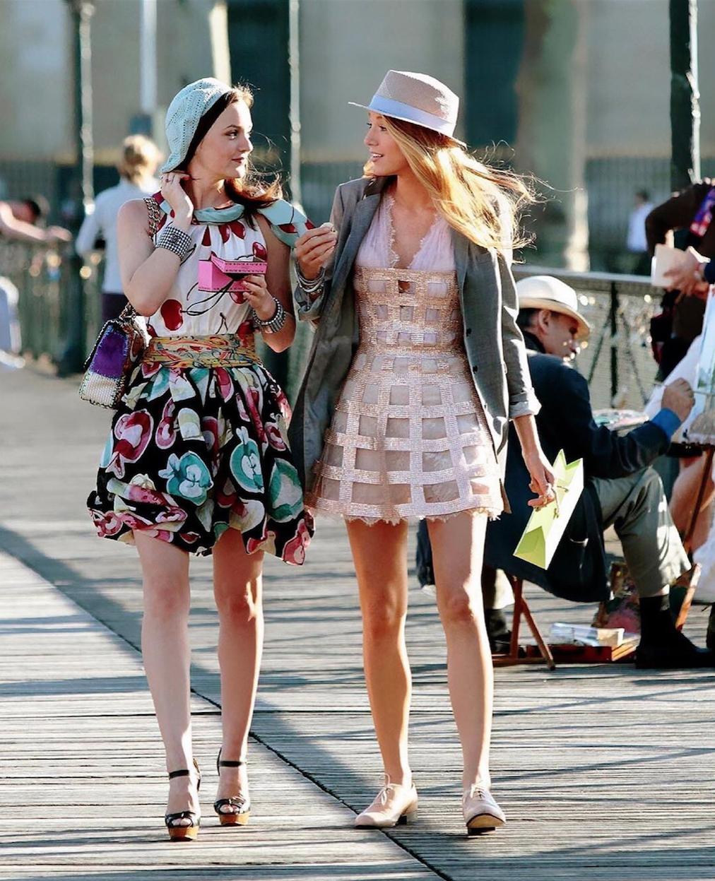 """Blair y Serena, las protagonistas de """"Gossip girl"""""""