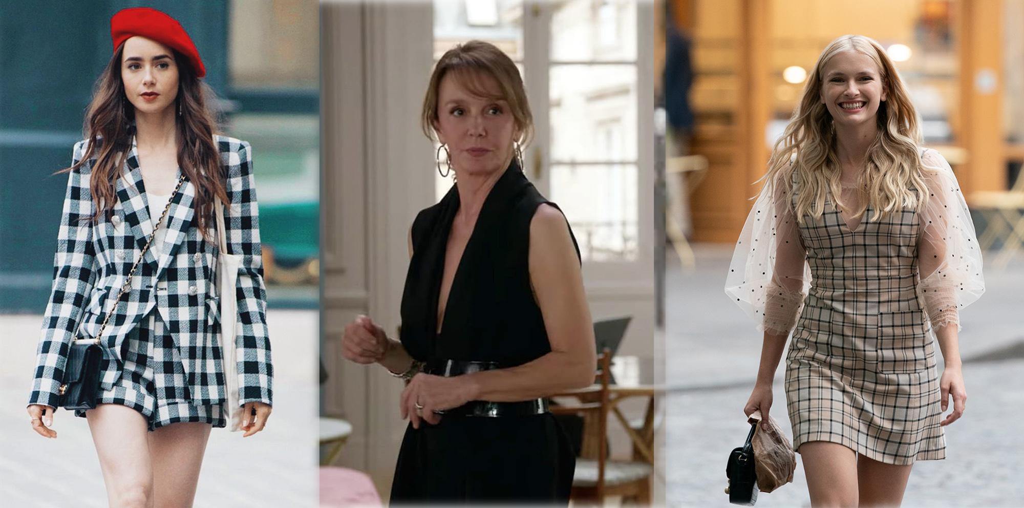 """Emily, Syvie y Camille, de la serie """"Emily in Paris""""."""