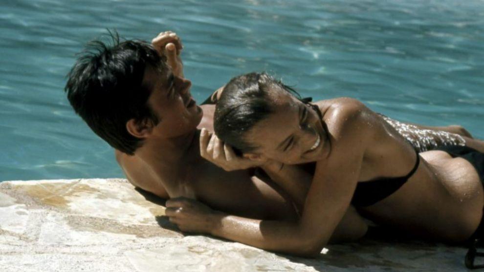 Una escena de la película La Piscina(1969) que ha inspirado al nariz...